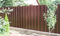 Забор из профнастила, сплошной