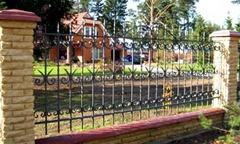 Секционный забор, кованная секция