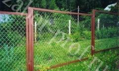 Забор из сетки рабица, секционный
