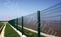 Забор из цельной сетки рабица