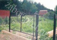 Ворота забора из сетки рабица