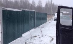 Забор из профнастила обыкновенный