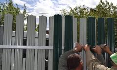 Забор из профнастила-штакетника